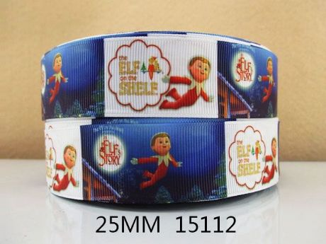 I METRE OF ELF ON A SHELF XMAS CHRISTMAS RIBBON IN SIZE INCH HEADBANDS HAIR BOWS